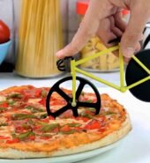 Bicicleta para cortar pizza